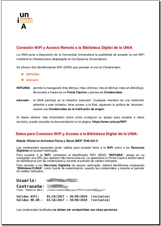 documento con credenciales primera página